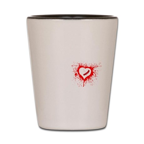 Broken Hearted Shot Glass