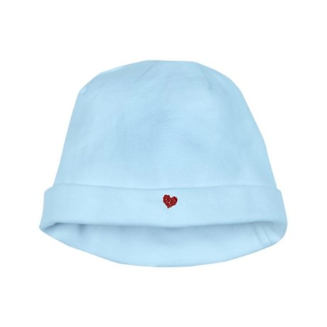 Heart of Skulls baby hat