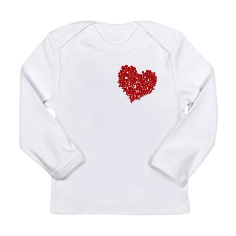 Heart of Skulls Long Sleeve Infant T-Shirt