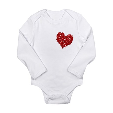 Heart of Skulls Long Sleeve Infant Bodysuit