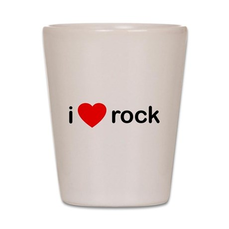 I Heart Rock Shot Glass