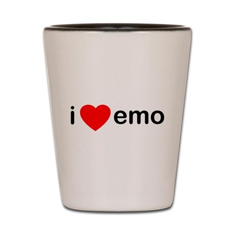 I Heart Emo Shot Glass