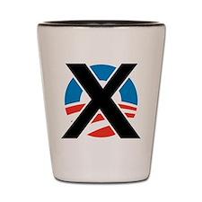 X Obama Shot Glass