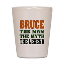 BRUCE - The Legend Shot Glass