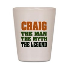 CRAIG - The Legend Shot Glass