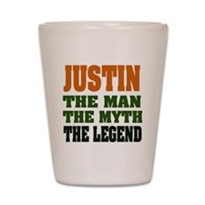 JUSTIN - The Legend Shot Glass