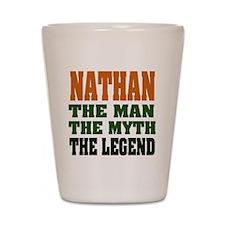 NATHAN - the legend! Shot Glass