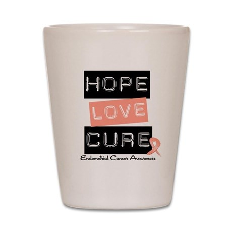 Endometrial Cancer Hope Shot Glass