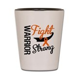 Leukemia Warrior Fight Shot Glass