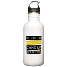 Childhood Cancer Support Water Bottle