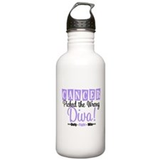 Cancer Wrong Diva Water Bottle
