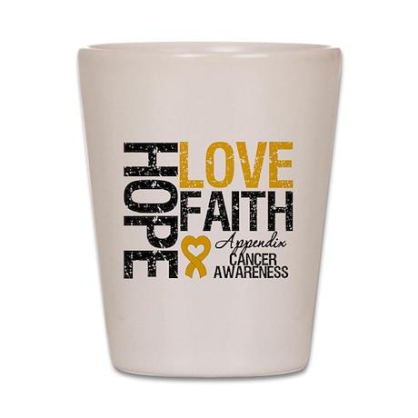 Appendix Cancer Faith Shot Glass