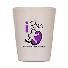 I Run Pancreatic Cancer Shot Glass