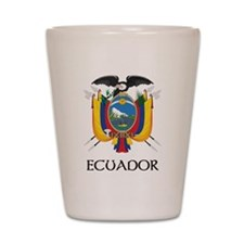 Ecuador Coat of Arms Shot Glass
