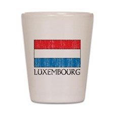 Luxembourg Flag Shot Glass