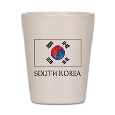 South Korea Flag Shot Glass