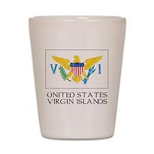 US Virgin Islands Flag Shot Glass