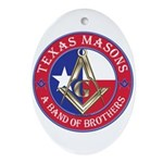 Texas Brothers Ornament (Oval)
