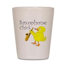 Saxophone Chick Shot Glass