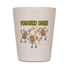 Trombone Rocks Shot Glass