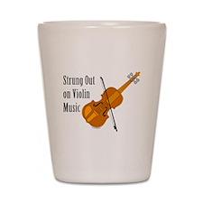 Violin Music Shot Glass