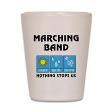 Marching Band Weather Shot Glass