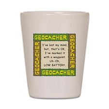 Green Geocacher Lost Mind Shot Glass