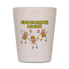 Geocaching Rocks Shot Glass