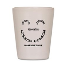 Accounting Smile Shot Glass