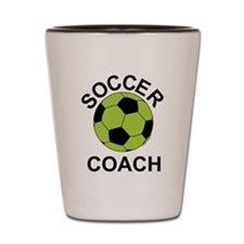 Soccer Coach in Green Shot Glass