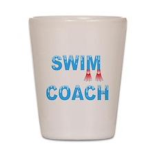 Swim Coach Blue Shot Glass