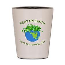 Peas on Earth Shot Glass