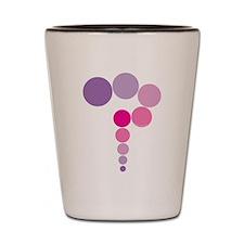 Pink Purple Question Mark Shot Glass