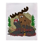 Moose humor Throw Blanket