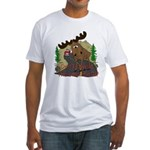 Moose humor Fitted T-Shirt