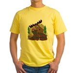 Moose humor Yellow T-Shirt