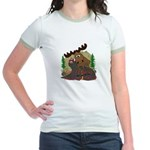 Moose humor Jr. Ringer T-Shirt