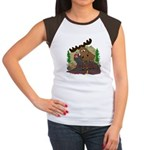 Moose humor Women's Cap Sleeve T-Shirt