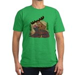 Moose humor Men's Fitted T-Shirt (dark)