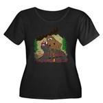 Moose humor Women's Plus Size Scoop Neck Dark T-Sh