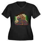 Moose humor Women's Plus Size V-Neck Dark T-Shirt