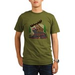 Moose humor Organic Men's T-Shirt (dark)