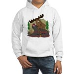 Moose humor Hooded Sweatshirt