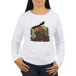 Moose humor Women's Long Sleeve T-Shirt