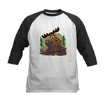 Moose humor Kids Baseball Jersey