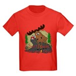 Moose humor Kids Dark T-Shirt