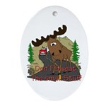 Moose humor Ornament (Oval)