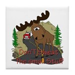 Moose humor Tile Coaster
