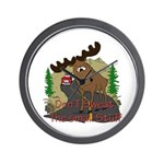 Moose humor Wall Clock