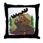 Moose humor Throw Pillow